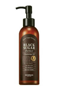 SKINFOOD BLACK SUGAR Perfect Cleansing Oil [200ml] Remove Makeup Hydrates UK