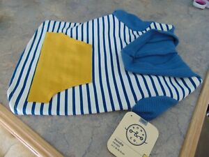 Bond & Co. Hoodie for dogs Sweatshirt, Blue Stripped, Size M