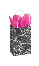 Elegant Swirl Paper Small Shopping Bag 5 ¼� x 3 ¼� x 8 ¾ Inches - Case of 25