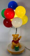 Vintage Winnie The Pooh Hunny Pot Bear Balloons Lamp Night Light