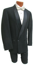 Boys Black Oscar de la Renta Double Breasted Tuxedo Jacket Wedding Ringbearer