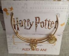 Alex And Ani Harry Potter Lightning Bolt And Glasses Duo Charm Bracelet Limited