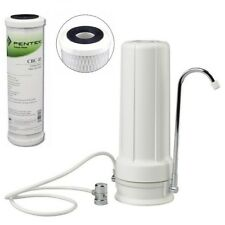 Bench Counter Top Water Filter | Premium Pentek Sub Micron Carbon Block .5 Pure