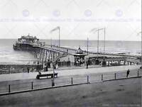 HASTINGS THE PIER ENGLAND VINTAGE HISTORY OLD BW PHOTO PRINT POSTER 906BWB