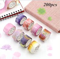 200x Charming Flower Petal Washi Tape Adhesive Washi Tape Paper Stickers DIY