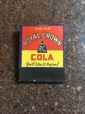 RC Royal Crown Cola Match Book Matches 1940's Unused Colorful!