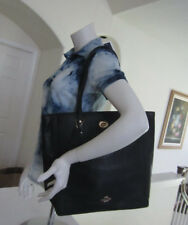 "COACH F12184 15.75"" Large Turnlock Tote in Pebble Leather Shoulder Bag $395"