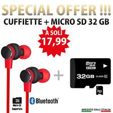 Cuffie Auricolari Bluetooth 4.2 SD Sport Wireless Magnetico MP3 iPhone Samsung R