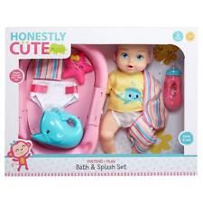 Honestly Cute Bath & Splash Set Baby Doll Toy Gift Set NEW Damaged box