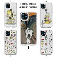 Design Snoopy case for iPhone 12 11 Pro Max XR SE X XS 8 7 clear silicone SN