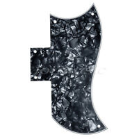 1 Pcs Black Pearl Pickguard for Electric Guitar SG 3 Ply Scratch Plate Parts