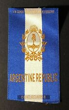 Vintage c1910 Argentine Republic Coat of Arms Cigarette Silk