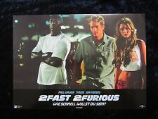 2Fast 2Furious lobby card # 6 The Fast and the Furious, Paul Walker, Tyrese