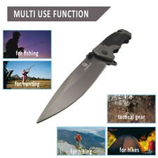 G10 Multi-function Folding Tactical Survival Knives Hunting Camping 440c Blade