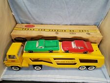 Nice Vintage Tonka Car Carrier Truck No.2850 In Box w/ Cars Pressed Steel Usa