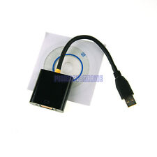 New Super speed USB 3.0 to VGA adapter Converter F Windows 7/8 Vista notebook PC