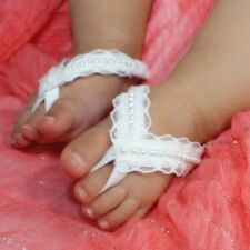 Toddler Boy Girl Beach Sandals Barefoot Foot Wrap Ring Infant Lace Pearl Shoes