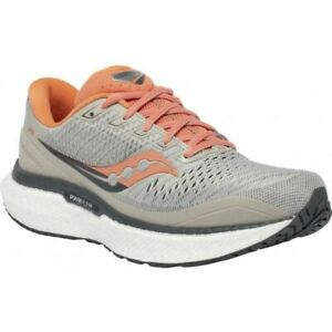 Saucony Womens Triumph 18 S10595-30 Moonrock / Coral Running Shoes Size 8.5