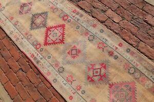 ORANGE Vintage Oushak Runner 2'6x12'6 Turkey Runner Wool Handmade Room Decor Rug