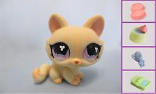 Littlest Pet Shop Yellow crouching Long Haired Cat Kitten#848+1 FREE Access.Auth