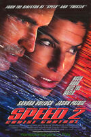 SPEED 2 MOVIE POSTER Original DS 27x40 SANDRA BULLOCK JASON PATRIC