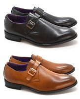 New Men's Classic Faux Leather Buckle Strap Formal Shoes UK SIZES 6-11