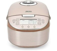 Aroma Professional Rice Cooker/Multicooker, 8-Cup Uncooked 16-Cup Cook Champagne