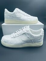 Nike X CLOT 1WORLD Air Force 1 PRM White Silk AO9286 100 HTF Men's Size 17 RARE!
