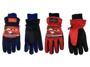 Boys Disney Cars Padded Ski Gloves Warm Winter Fleece Lined Snow Gloves Kids