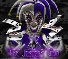 """CAN-AM SPYDER RT RT-S GRAPHICS DECAL SET """"THE JESTERS GRIN"""" BLACK & BLUE WRAP"""
