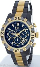 Aqua Master Chronometer Black Dial Men's Duo Black and  Gold Tone Watch W#333