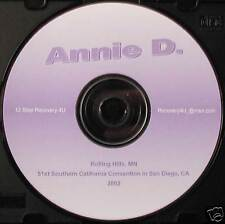 "Annie D. ""I'd spit at myself in the mirror"" 2002  talk Alcoholics Anonymous CD"