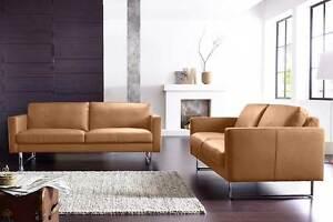 Leder Sofa Couch Garnitur 2er oder 2,5 Sitzer oder 3er Echt mit Kufenfuß *NEU
