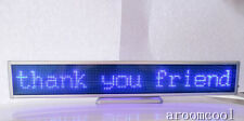 16*128 LED Message Scrolling Display Board Programmable Blue