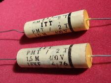 TONFREQUENZ KONDENSATOR ITT 1,5µF 400V= FOLIE D14x45mm f. FREQUENZW.  2x   23611