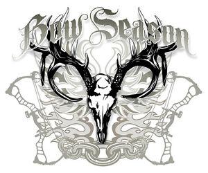 Bow Hunter T-shirt,compound bow,bow season,hunting apparel,deer skull shirt,bear