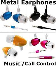 Metal Earphones Headphones for iPhone 6S 5S iPod Laptop iPad 5/4 MP3 MP4 Player