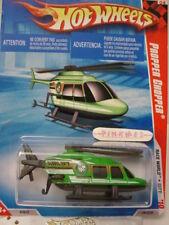 2010 i Hot Wheels PROPPER CHOPPER#181/214~Green Copter~Race World