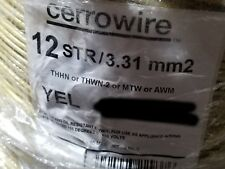 Cerrowire #12awg 19 Stranded THHN/THWN-2/MTW Building Wire Yellow /100ft