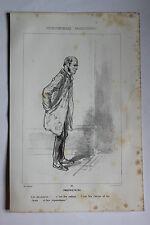 GAVARNI Lithographie originale série PHYSIONOMIES PARISIENNES - PROPRIETAIRE ...