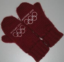 Vancouver Olympics Mittens Canada HBC Hudsons Bay Company 2010 Red Boy's