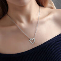 2019 Fashion Women Heart Stainless Steel Chain Necklace Charm Pendant Jewelry