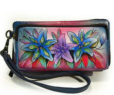 Anuschka™ Luscious Lilies, All Leather Organizer Wallet w/ RFID Protection