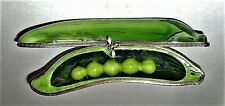 LIMOGES BOX ~ DUBARRY ~ PEA POD & BEE CLASP ~ FIVE PEAS INSIDE ~ PEAPOD