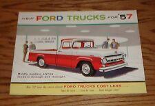 Original 1957 Ford Truck Full Line Sales Brochure 57 Pickup