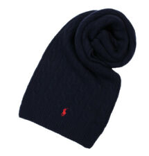 Polo Ralph Lauren Men's Wool Blend Cable Knit Winter Scarf, Navy, Sz O/S, 8113-6