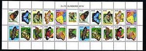[ARV500] Aruba 2010 Butterflies Schmetterlingen Papillons Miniature Sheet MNH