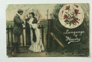 LANGUAGE OF FLOWERS  POSTCARD, 1907.   GG33