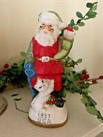 1937 USA United States Santa Claus Persian Kitten Kitty Cat Statue 5.5 ❤️tw11j