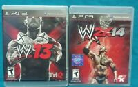 WWE 13 + 2K14 Wrestling - Sony PlayStation 3 PS3 Game Lot Working Tested